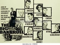 KING OF THE ROARING 20'S: THE STORY OF ARNOLD ROTHSTEIN, (aka THE BIG BANKROLL), from left: David Janssen, Diana Dors, from - Stock Image