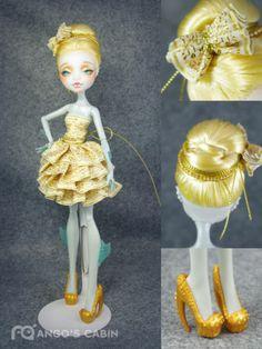 "Monster High Repaint Custom OOAK Golden ""Grace"" by Mango's Cabin | eBay   <3"