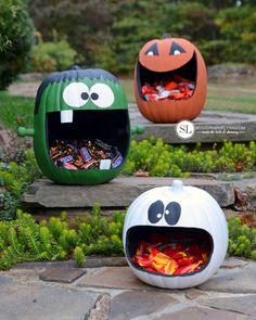 Craft Pumpkins Candy Holders Faux Pumpkin Crafts #michaelsmakers #trickyourpumpkin