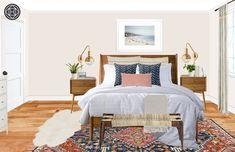 Eclectic, Bohemian Bedroom Design by Havenly Interior Designer Natalie Eclectic Design, Eclectic Style, Interior Design, Bohemian Bedroom Design, Bedroom Styles, Bedroom Ideas, Cottage Homes, Bedroom Furniture, Master Bedroom