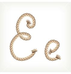 Rope alphabet Letter E on VectorStock