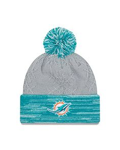 NFL Miami Dolphins Women s Snow Crown Redux Knit Beanie 36d7ad4b6