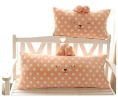 Cute pillows! Special Double pillow the couple long pillow / pear Polka Dot Rabbit plush doll cushion / pillow / large cartoon pillow - Taobao