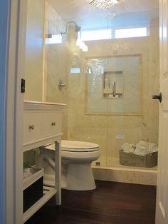 Rustic elegant home tourMy Uncommon Slice of Suburbia Downstairs Bathroom, Bathroom Renos, Small Bathroom, Master Bathroom, Bathroom Ideas, Washroom, Bath Ideas, Tile Bathrooms, Farmhouse Bathrooms