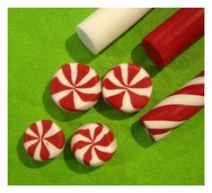 Peppermint tutorial: Polymer Clay ( would be great for ice box cookies!)