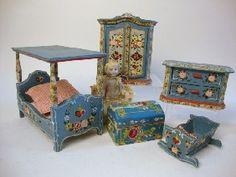 German Painted Furniture  I have that cradle!