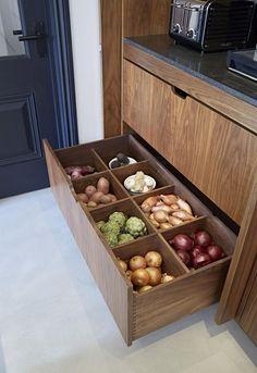 Food storage design drawers 18 New Ideas Kitchen Cupboard Designs, Kitchen Room Design, Kitchen Cupboards, Modern Kitchen Design, Home Decor Kitchen, Interior Design Kitchen, Kitchen Ideas, Open Kitchen, Hidden Kitchen
