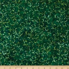 Designed for Hoffman International Fabrics, this Indonesian batik is perfect for quilting, craft projects, apparel and home décor accents. Colors include shades of green.