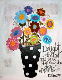 pinterest children of the world acrylic painting | Delight yourself in the Lord and he will give you the desires of your ...