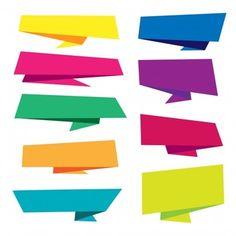 Coleção de fita Origami