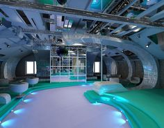 Nightclub design in industrial style.