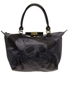 Paul s Boutique Betty Black Skull Zip Top Shopper Exclusive To ASOS -  StyleSays Black Skulls 30921994e05