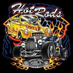Hot Rod Coupe Willys Convertible Large Licensed Design Quality Mens T-Shirt