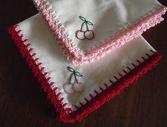 Sara vs. Sarah: Fancy Crochet Edged Hankie - A Tutorial