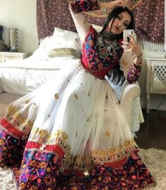 Traditional Afghani clothing is generally loose-fitting and conservative. But we have Specially designed Afghani dresses that depict the Afghan culture and their fashion trends. Afghani dresses are different from Indian traditional dresses. Garba Dress, Navratri Dress, Choli Dress, Balochi Dress, Indian Designer Outfits, Designer Dresses, Indian Designers, Pakistani Outfits, Indian Outfits