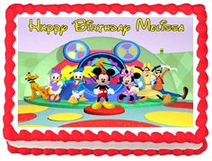 """MICKEY+MOUSE+CLUB+HOUSE+Edible+image+cake+topper+1/4+sheet+(10.5""""+x+8"""")"""