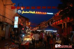 #Night #View of #Jonker #Street #Walk, one of the #Top #Tourist #Attractions of #Kuala #Lumpur, #Malaysia.... Visit http://gotourister.com/ for #exciting #tours at exciting #low #prices...