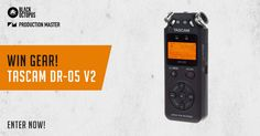 Black Octopus Sound - Win a Tascam DR-05 V2 Digital Recorder - http://sweepstakesden.com/black-octopus-sound-win-a-tascam-dr-05-v2-digital-recorder/