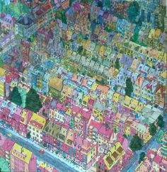 Uit Het Fantastic Cities Boek Getekend Door Steve McDonald Bremen Duitsland Gekleurd More Information Coloring Book