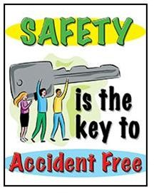 Safety Is The Key To Accident Free, Safety Banners and Motivational Posters Help motivate and enhance your safety awareness program. Promote Safety to help you prevent accidents and recognize accomplishments Road Safety Quotes, Road Safety Poster, Health And Safety Poster, Safety Posters, Construction Safety, Construction Fails, Fire Safety Training, Safety Pictures, Safety Slogans