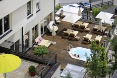 Poolterrasse mit  Whirlpool im Sommer Spa, Outdoor, Air Fresh, Summer, Outdoors, Outdoor Games, Outdoor Life