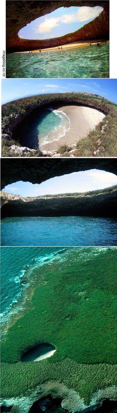 Hidden Beach Full - Marieta Islands, off the coast of Puerto Vallarta, Mexico