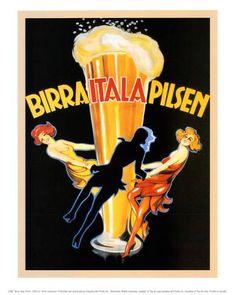 Birra Italia 1920 Pilsen Vintage Poster Retro Art Print Italian Advertisement Free US Post Low European Post by CharmCityPosters on Etsy Vintage Italian Posters, Pub Vintage, Vintage Advertising Posters, Vintage Advertisements, French Posters, Beer Advertisement, Vintage Style, Poster Retro, Poster Ads