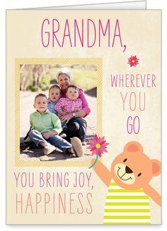 What Grandma Brings 5x7 Folded Card by Treat
