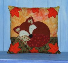 EGDAW CRAFTS This is one of my latest applique sewing patterns, A lovely bright and cheery cushion design of a cute little sleeping fox. Ive made it