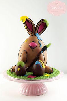 My Sweet Art: Como hacer una tarta 3D de conejo
