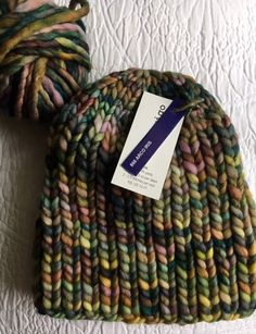 Knit a Simple Hat and Scarf in Bulky Malabrigo Rasta Yarn – New England's Narrow Road #quickbulkyhat #freehatpattern #beginnerhatknitting