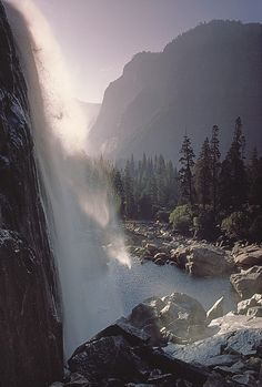 Lower Yosemite Falls, Yosemite National Park; photo by Gordon Wiltsie