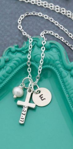 d413e3f83 Necklace Etsy Like this cross necklace and with Easter coming up it's the  perfect gift to