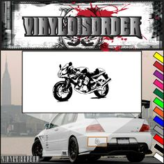 Motorcycle Sketch Wall Decal - Vinyl Decal - Car Decal - CD010