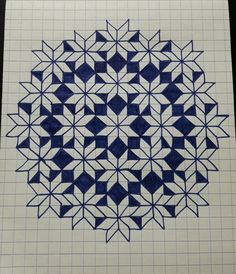 New flowers wreath drawing purple 33 ideas Graph Paper Drawings, Graph Paper Art, Geometric Drawing, Geometric Art, Buch Design, Design Design, Quilt Design, Design Ideas, Paper Embroidery