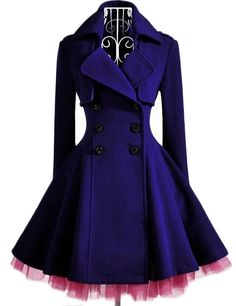 Romantic Purple Peacoat by Aoisos, $169.00; I need to remember this website, great modern Gothic clothing (KLH)