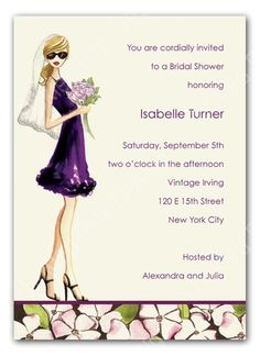 Glam Shower Invite -- Bridesmaids, this is you!