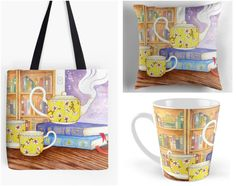 With Love for Books: Books and Tea Tote Bag, Mug & Pillow Set Giveaway