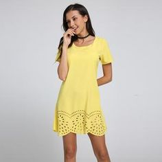 a5cd630cf8e8 Vintage Women Summer Crochet Hollow Out Dress 2017 New Sexy O Neck Short  Sleeve Straight Party
