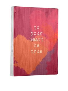 0% OFF Lisa Weedn To Your Heart Be True Reclaimed Finished Wood Portrait