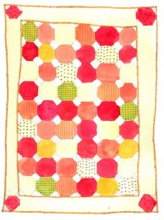 Beautiful quilt watercolor!  Love the colors. @Kaitlyn Thatcher     Look familiar? :-)