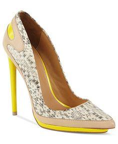 L.A.M.B. #shoes #pumps #yellow BUY NOW!