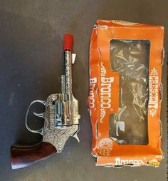 Vintage Crescent Toys BRONCO Cap Gun in original box by FromDECOtoDISCO on Etsy