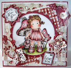 Watercan Tilda, Sweet Rainbow collection, Magnolia stamps