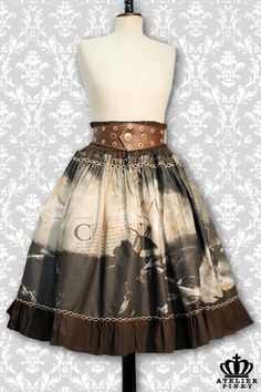Storm Sea Rock Skirt from atelier pinky 179.00 €  http://www.p-i-n-k-y.ch/atelier_pinky2011/kleidung/lolita_roecke/stormy_sea_rock/beschreibung.html