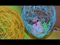 Залила клеем ПВА моток ниток, чтобы создать очень оригинальную пасхальную композицию… Parrot, Bird, Animals, Parrot Bird, Animales, Animaux, Parrots, Birds, Animal