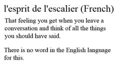 I don't have a drop of French blood in me but I can relate 100 percent