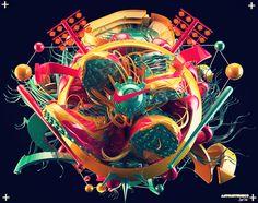 I wish I could design like this. KILL ART // TRUST DESIGN by Antoni Tudisco, via Behance