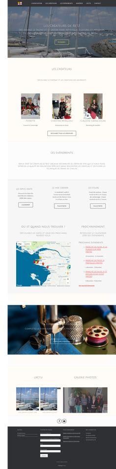 Création d'un site web pour une association visant à promouvoir le talent et le savoir-faire artistique, culturel et artisanal des créateurs et artisans des communes du Pays de Retz.