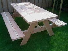 Zelfbouw Picknicktafel Nevada maken